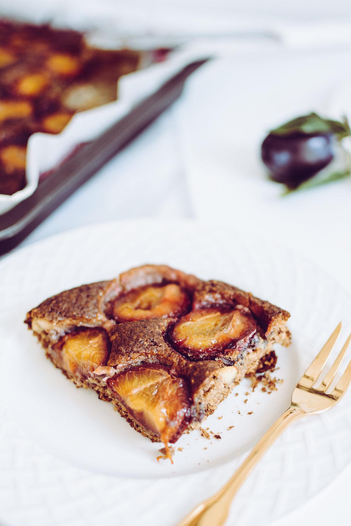 Zwetschgenkuchen vegan | Pixi mit Milch