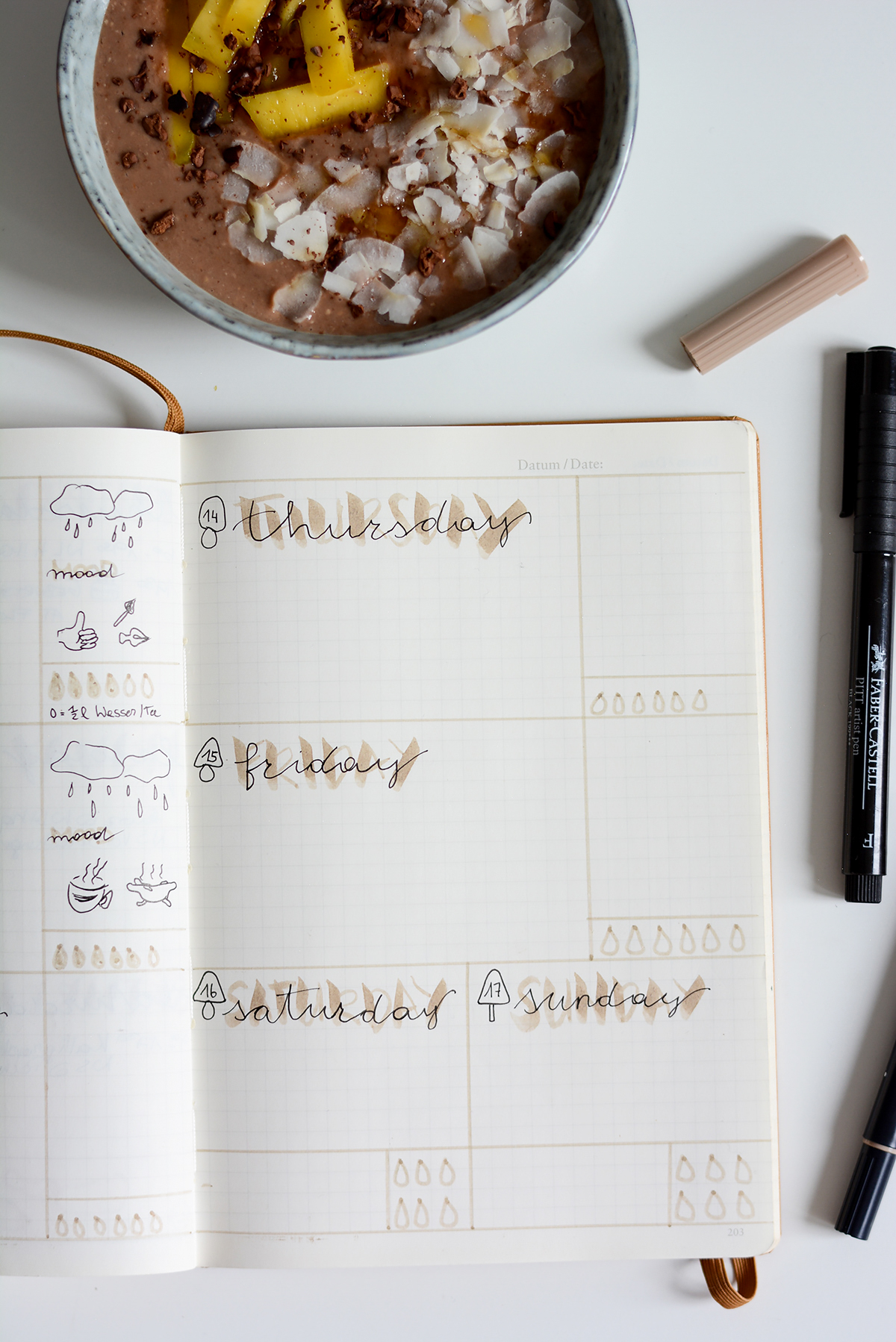 Bullet Journal Setup September | Pixi mit Milch