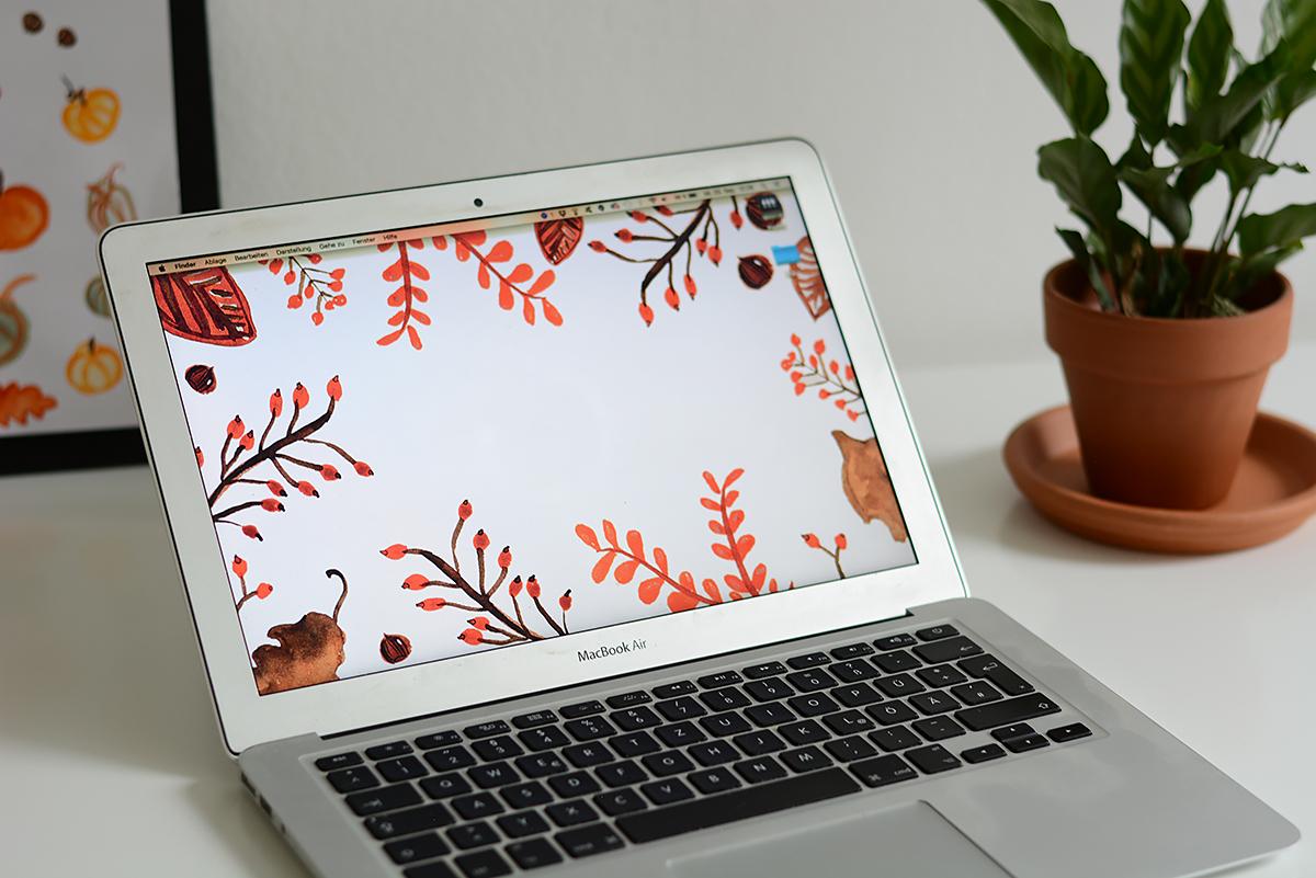 Free Autumn Wallpaper | Pixi mit Milch