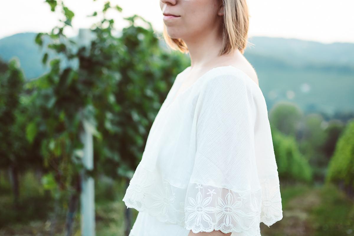 Weißes Sommerkleid | Pixi mit Milch