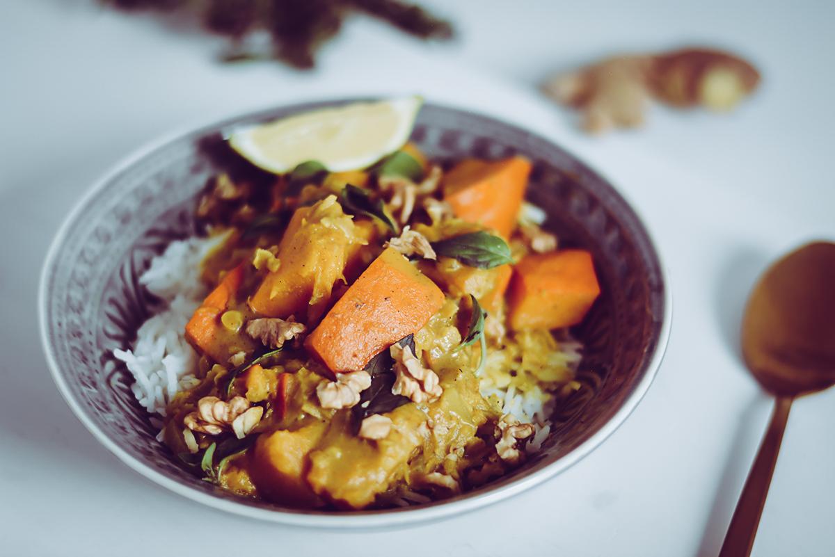 Kürbis-Curry Rezept | Pixi mit Milch