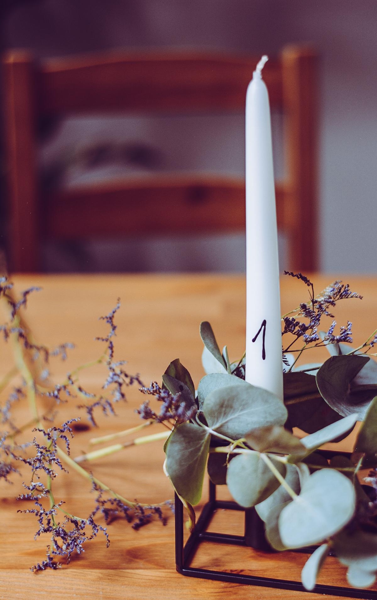 Adventskranz-DIY | Pixi mit Milch