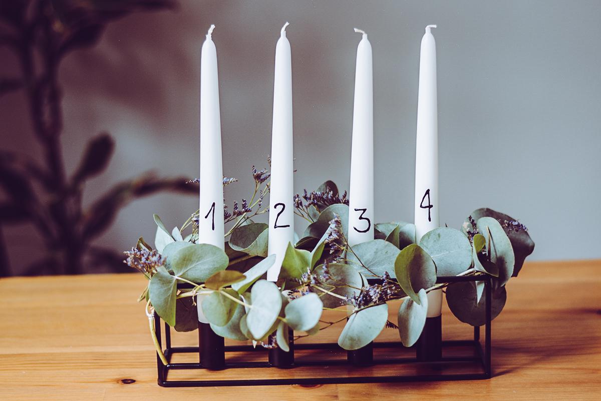 Adventskranz Scandi DIY | Pixi mit Milch