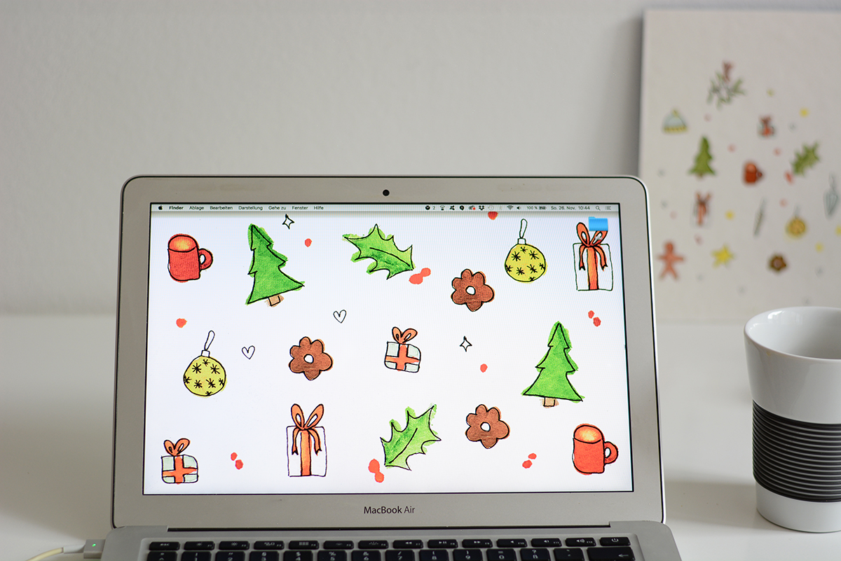 Christmas Essentials Wallpaper | Pixi mit Milch