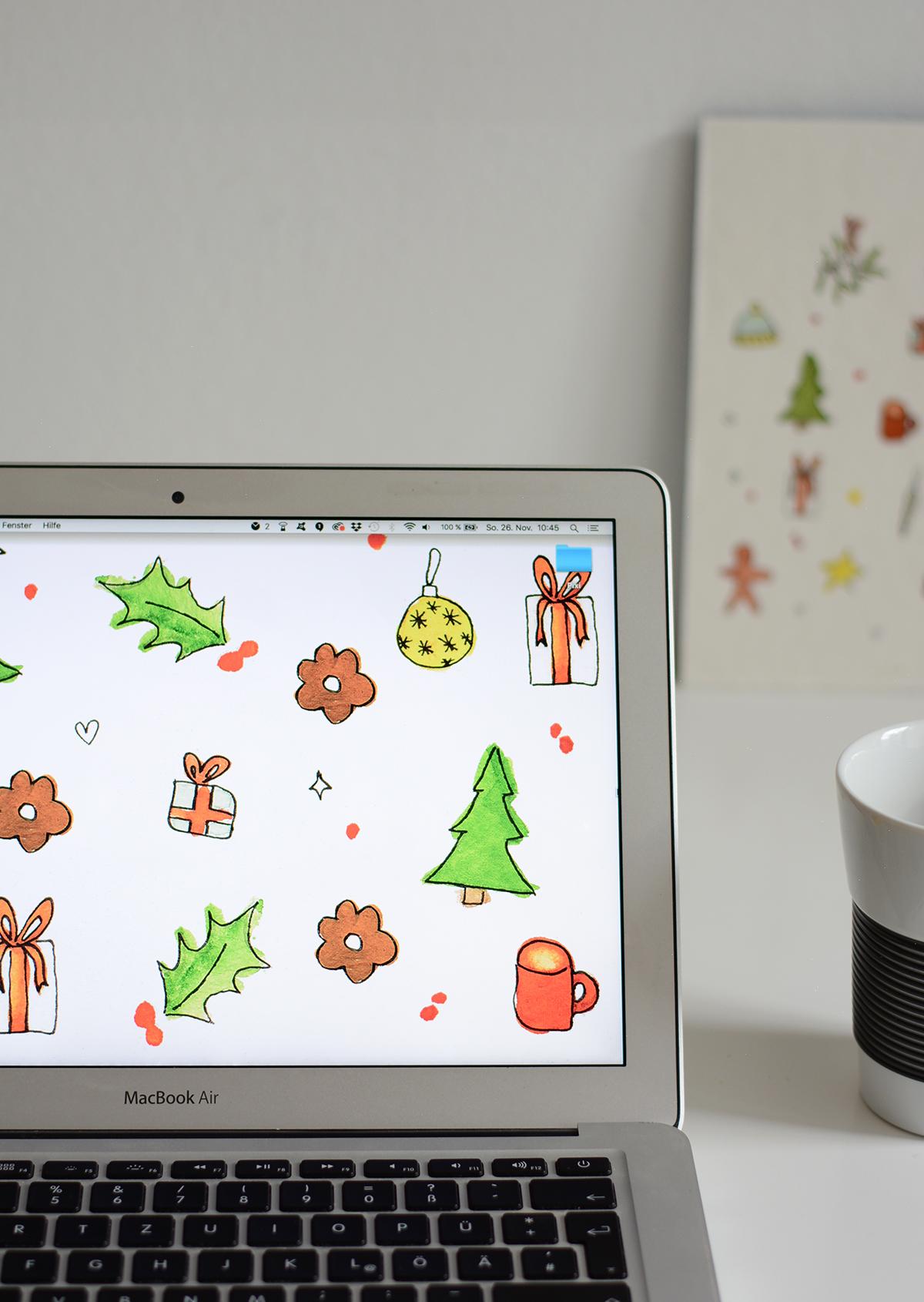 Christmas Essentials Wallpaper Dezember | Pixi mit Milch