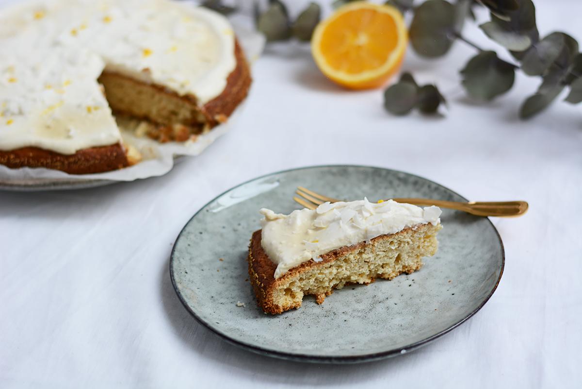 Orangen-Kokos-Kuchen vegan | Pixi mit Milch