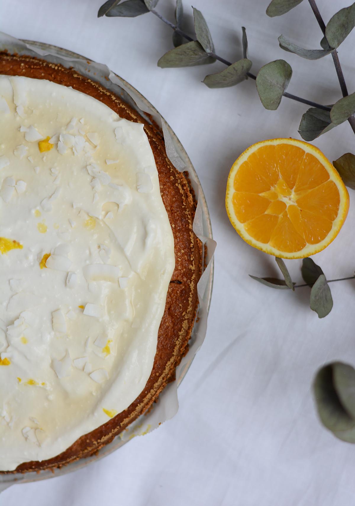 Orangen-Kokos-Kuchen | Pixi mit Milch