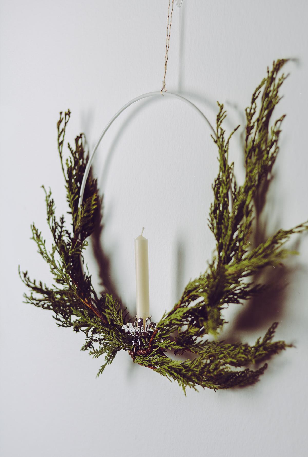Skandinavischer Weihnachtskranz | Pixi mit Milch