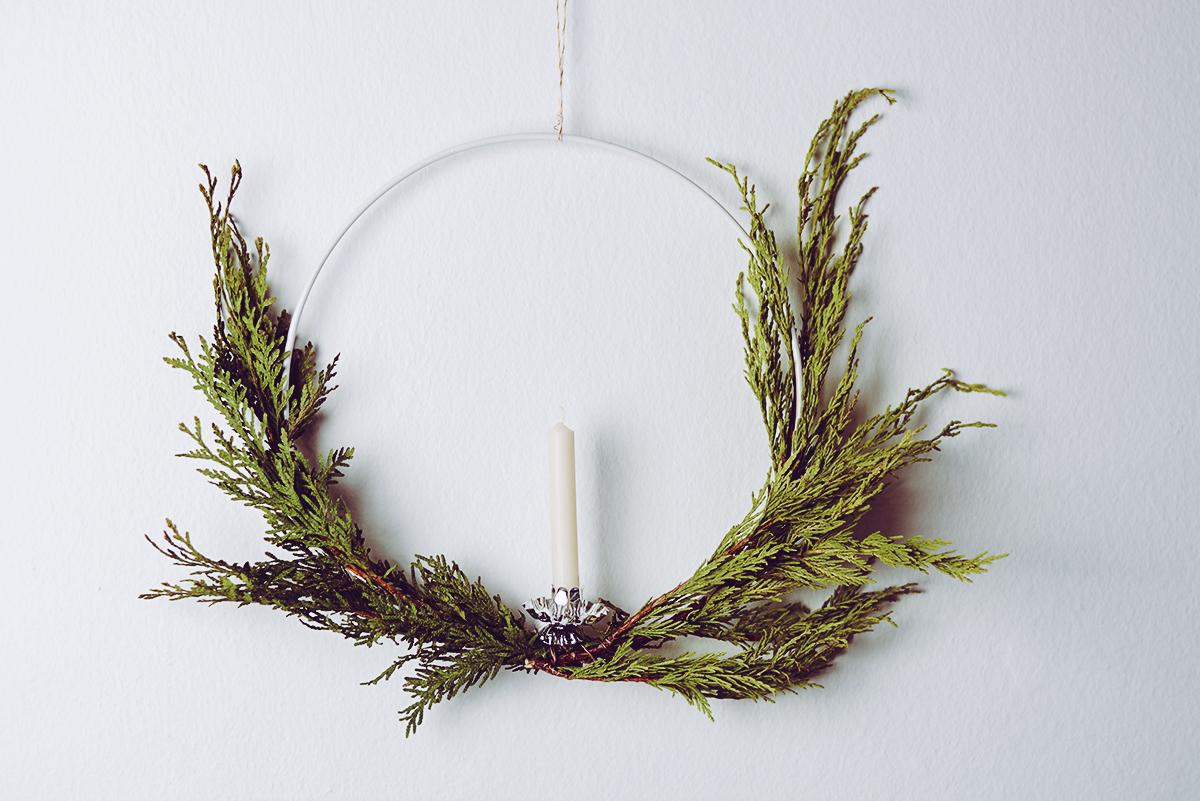 Weihnachtskranz DIY | Pixi mit Milch
