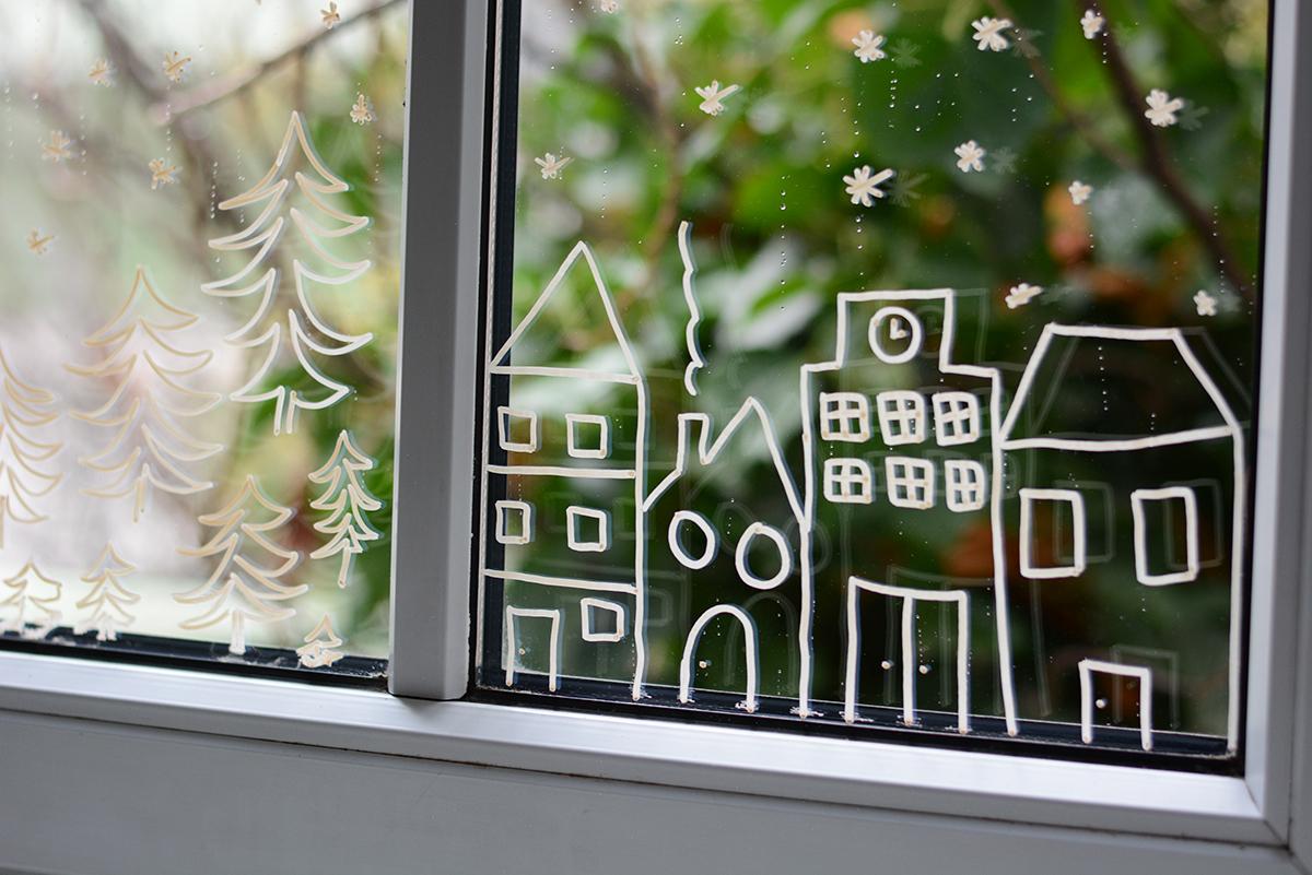 DIY: Fenstermalerei | Pixi mit Milch
