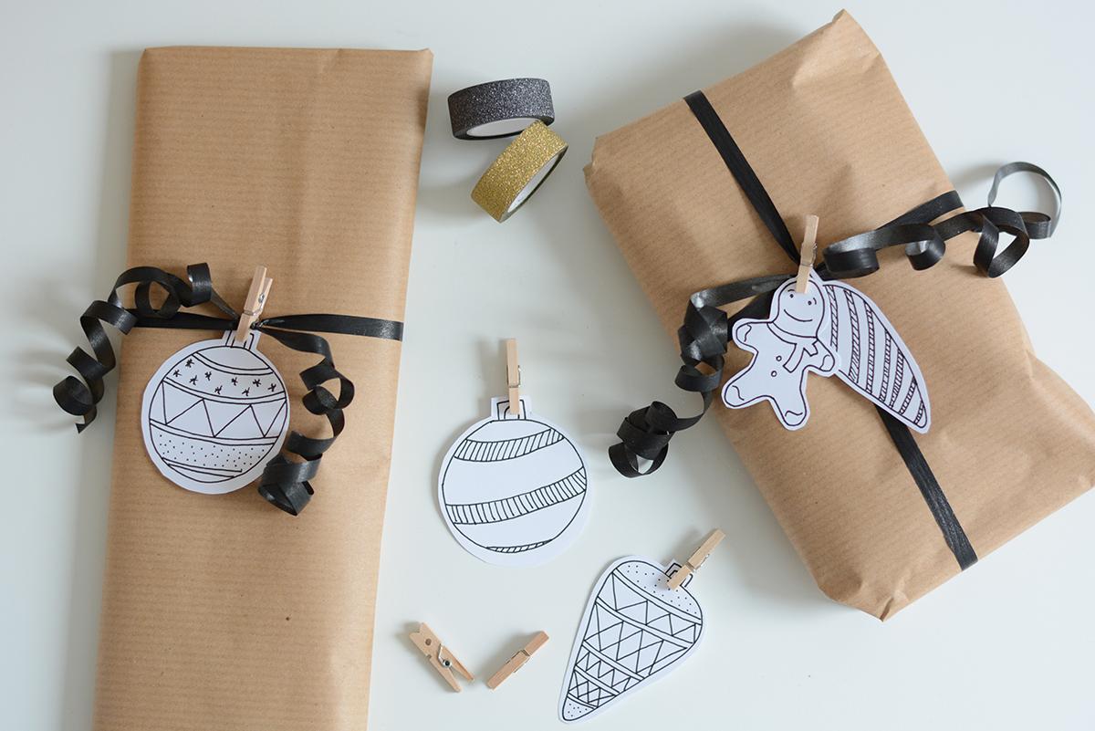 Geschenkanhänger Weihnachten | Pixi mit Milch