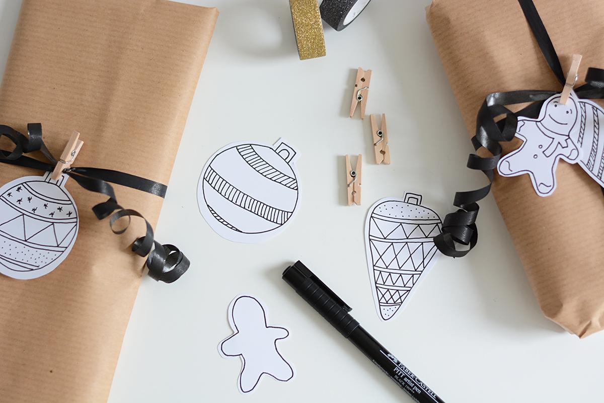 Geschenkanhänger illustrieren | Pixi mit Milch