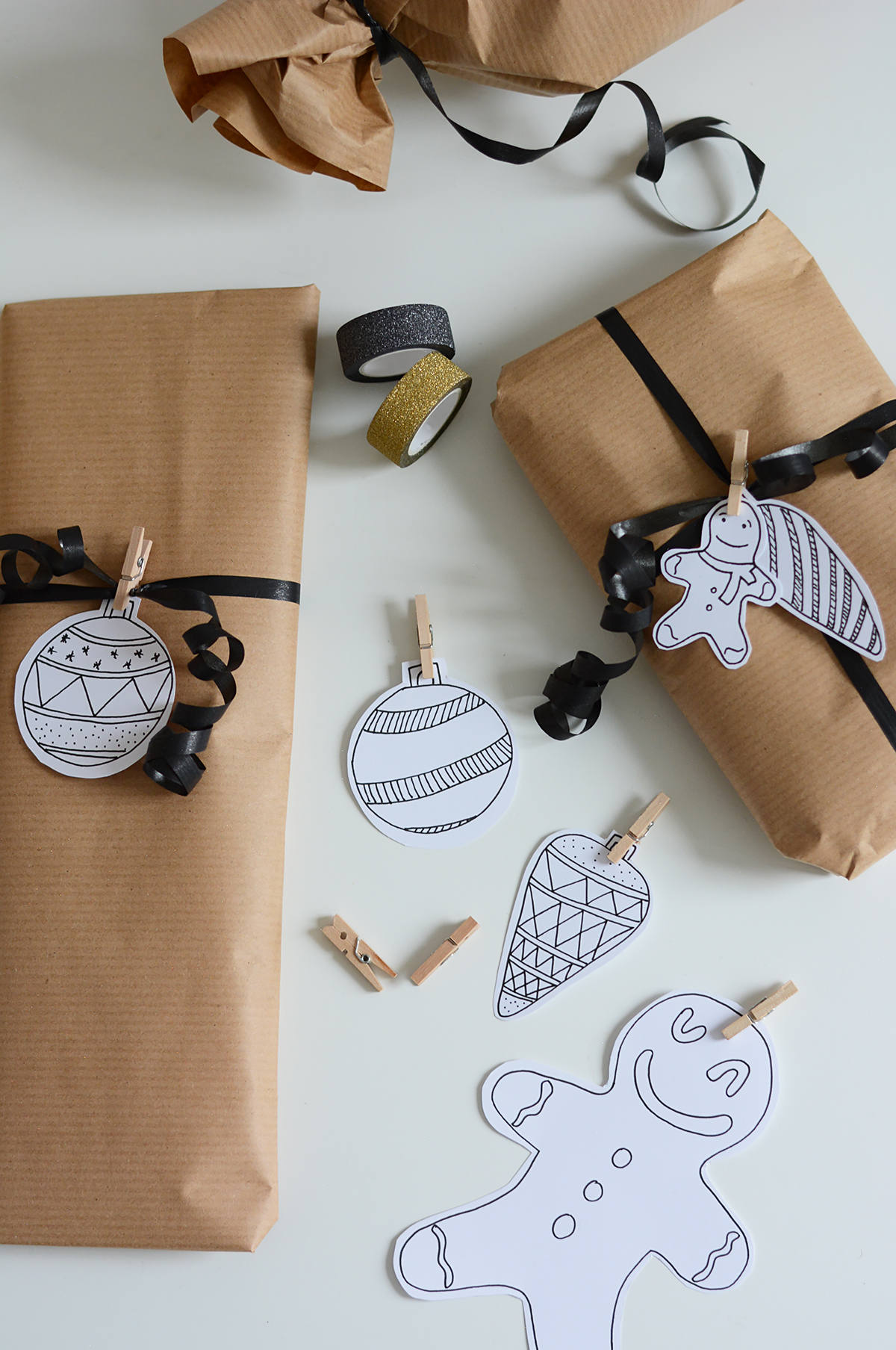 Geschenkanhänger zeichnen | Pixi mit Milch
