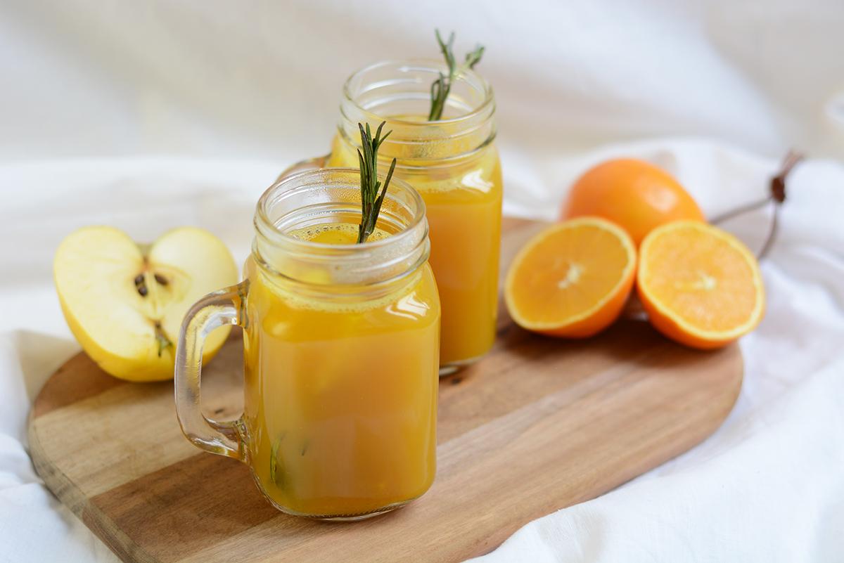 Rezept: Orangen-Apfel-Punsch | Pixi mit Milch