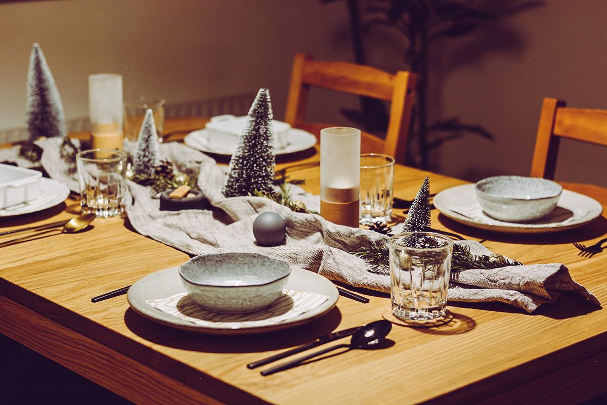Tischdekoration Weihnachten | Pixi mit Milch