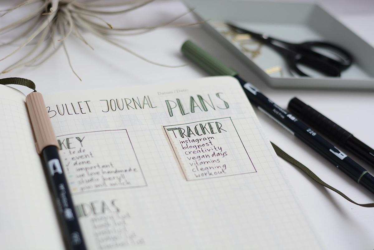 BuJo: Planning Page | Pixi mit Milch