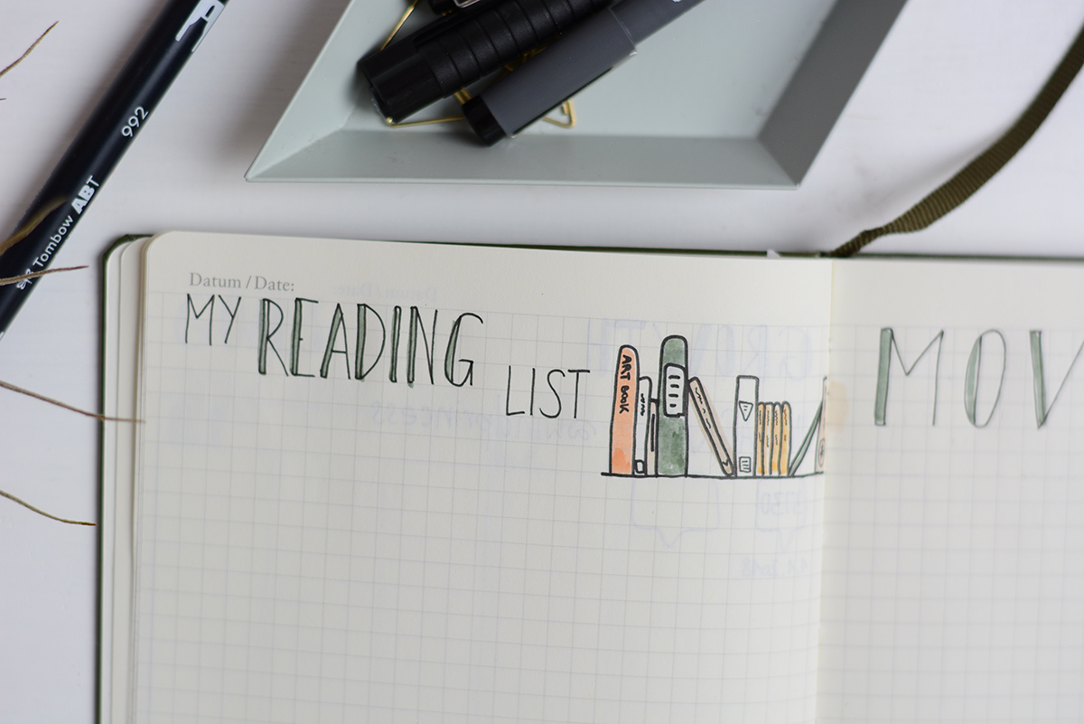 BuJo: Reading List | Pixi mit Milch