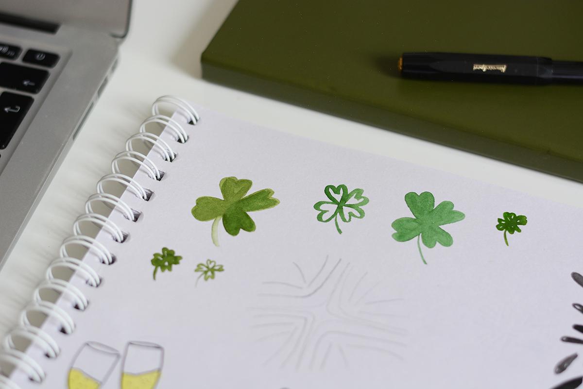 Kleeblätter zeichnen | Pixi mit Milch