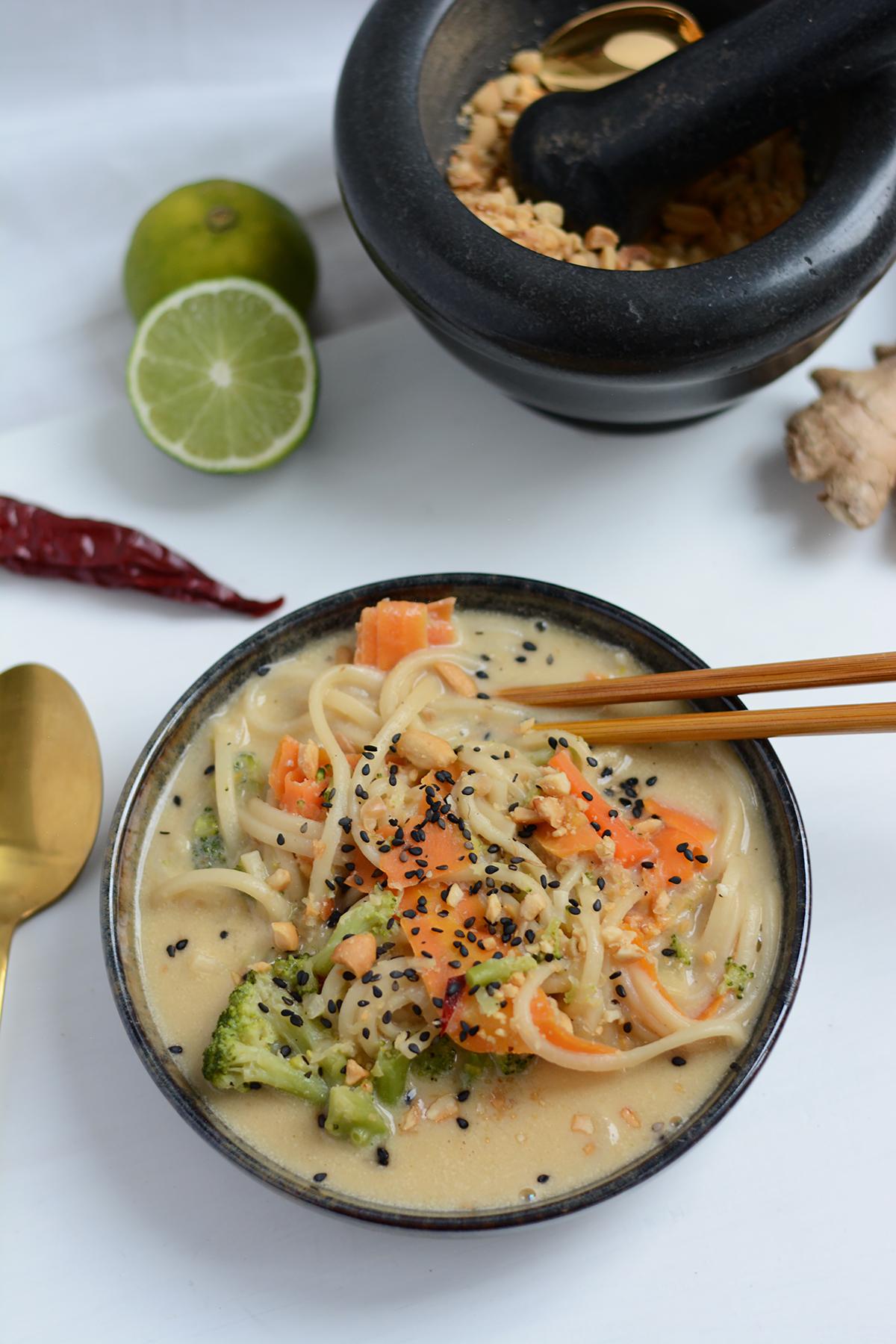 Recipe: Creamy Udon Soup | Pixi mit Milch