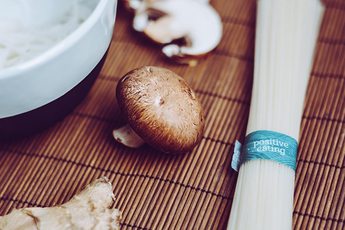 Pilz-Pho mit Reisnudeln | Pixi mit Milch