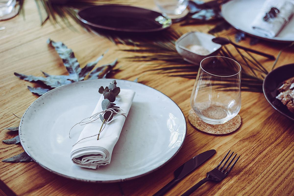 Tischdeko Inspiration Greenery | Pixi mit Milch