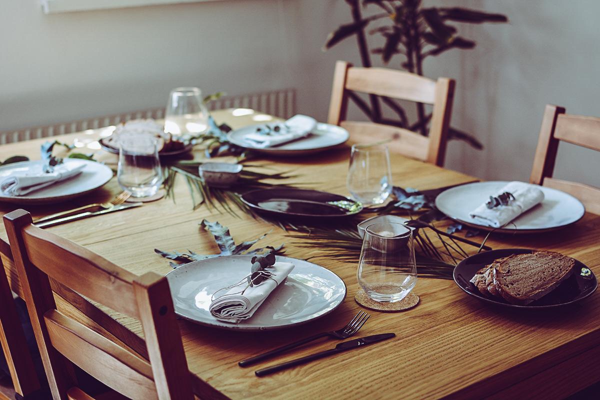 Tropical Tischdekoration | Pixi mit Milch