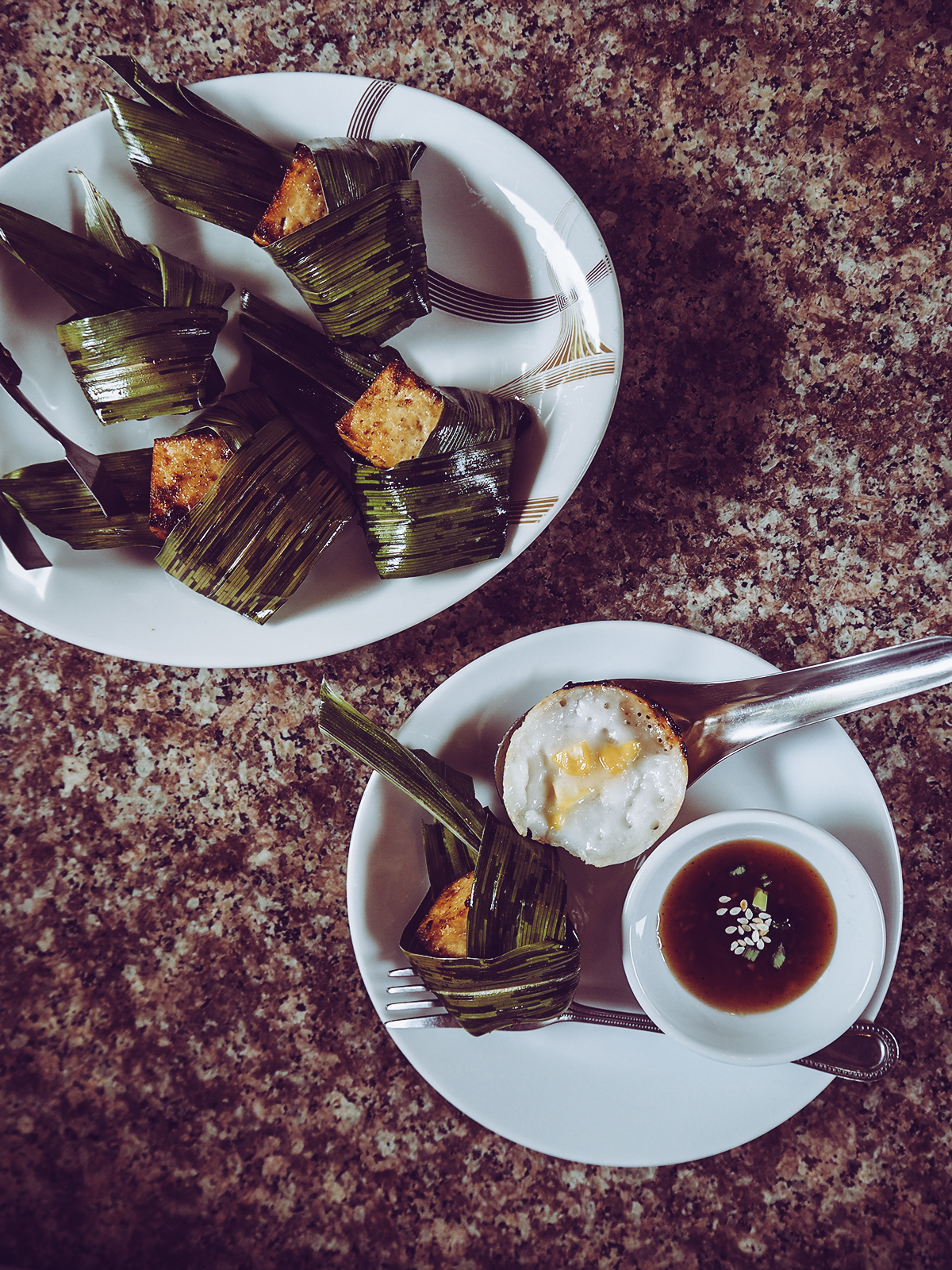 Tofu im Pandanblatt |Pixi mit Milch