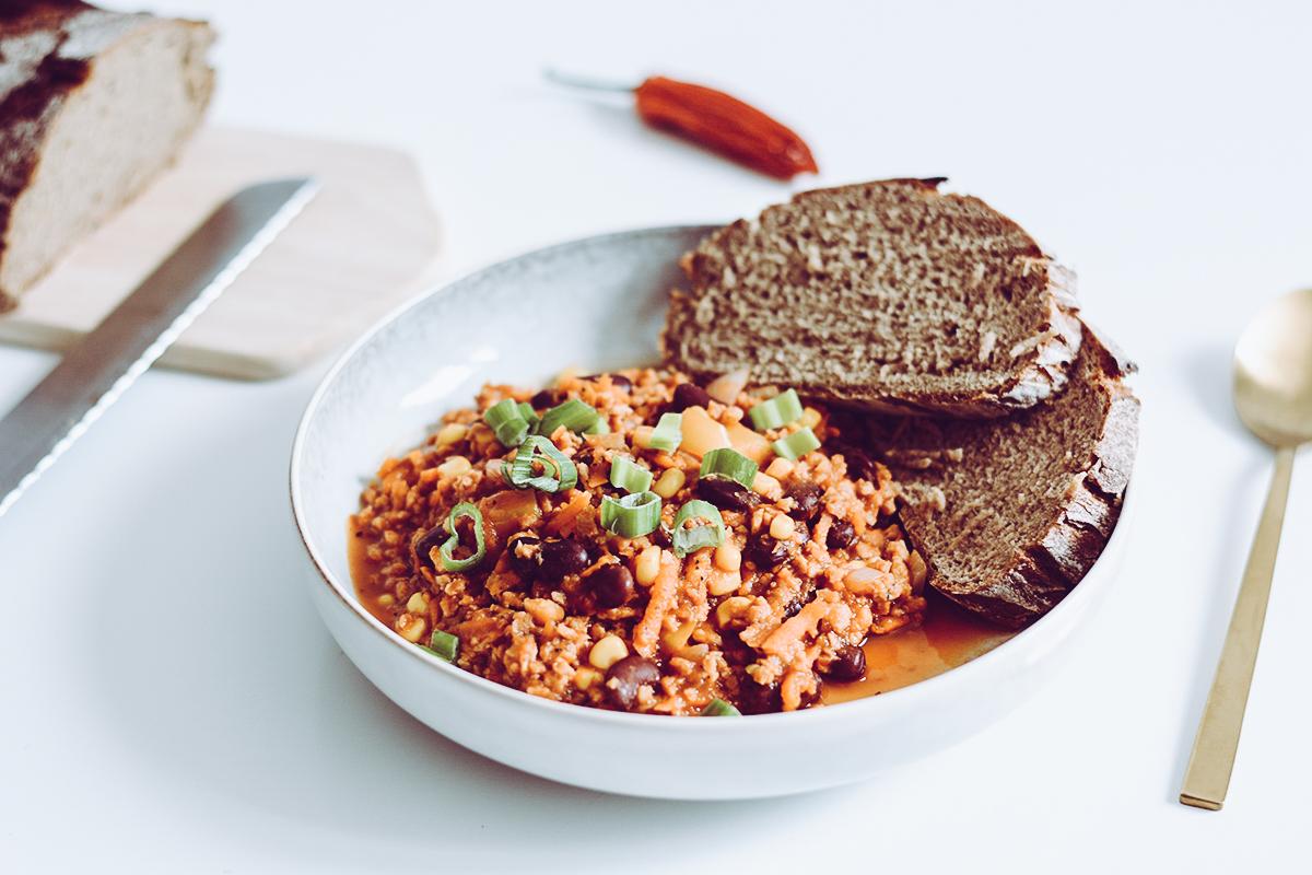 Chili sin Carne | Pixi mit Milch
