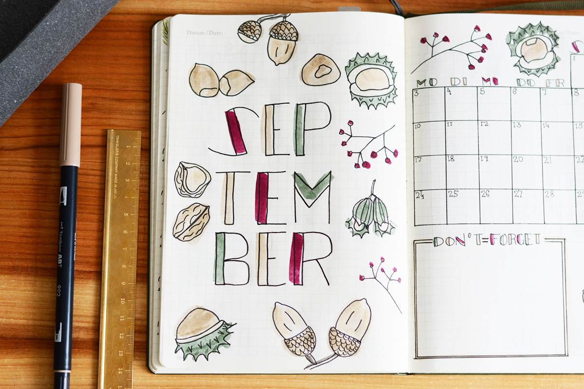 Bullet Journal Setup Inspiration | Pixi mit Milch