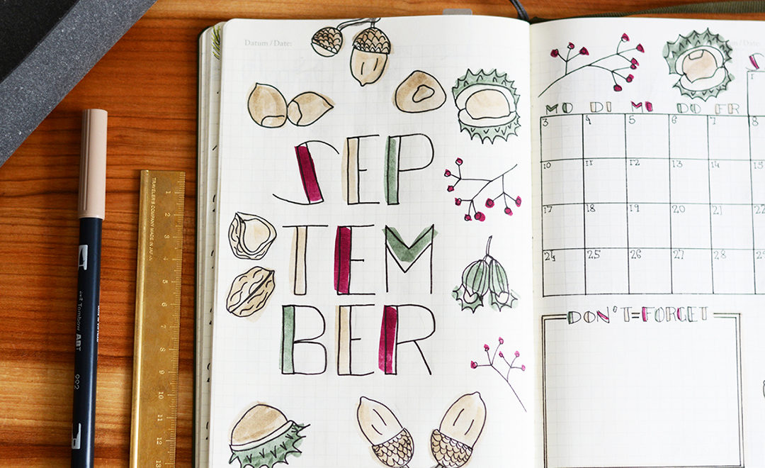Bullet Journaling Setup Inspiration Fur September