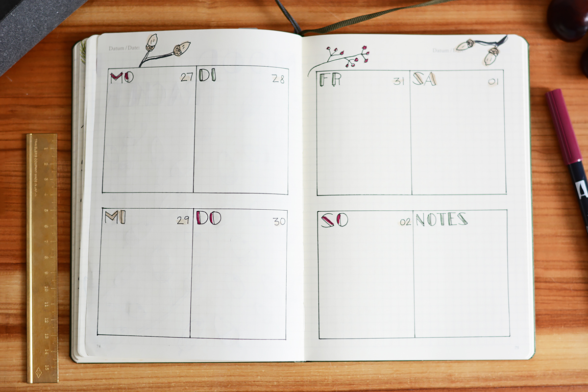 Bullet Journal: Weekly Spread | Pixi mit Milch