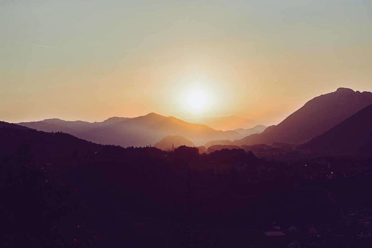 Siriuskogl: Sonnenuntergang | Pixi mit Milch