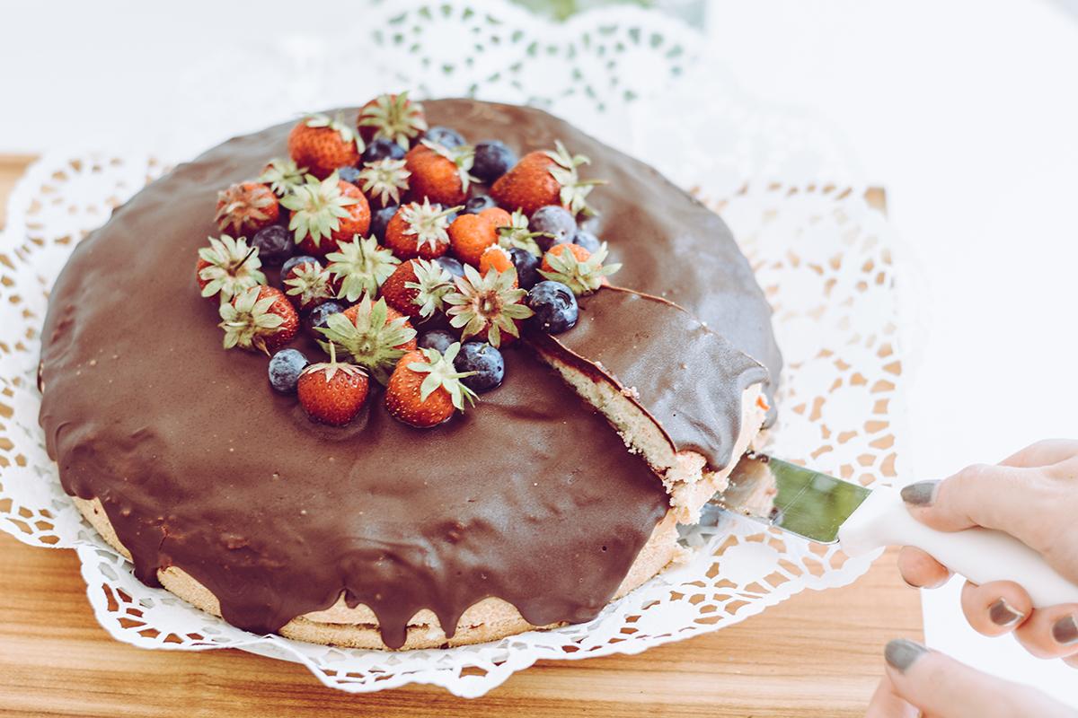 Erdbeer-Zitronentorte backen | Pixi mit Milch